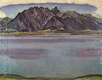 Lake Thun and the Stockhorn Mountains 1910 - Ferdinand Hodler reproduction oil painting