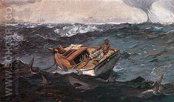 The Gulf Stream 1899 - Winslow Homer reproduction oil painting