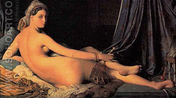 La Grande Odalisque 1814 - Jean-Auguste-Dominique-Ingres reproduction oil painting