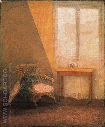 A Corner of the Artists Room c1907 - John Gwen reproduction oil painting