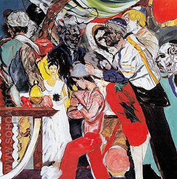The Wedding c1989 - Ronald Brooks Kitaj reproduction oil painting