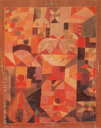 The Castle in the Garden c1919 - Paul Klee reproduction oil painting