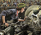 Ruby Loftus Screwing a Breech Ring 1943 - Dame Laura Knight