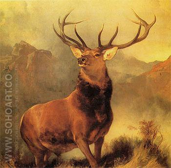 Monarch of the Glen 1850 - Sir Edwin Landseer reproduction oil painting