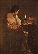 The Magdalene with Nightlight c1650 - George de la Tour reproduction oil painting