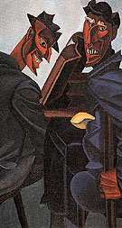 A Reading of Ovid Tyros c1920 - Percy Wyndham Lewis reproduction oil painting