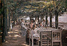 Terrace at the Restaurant Jacob in Niestedten on the Elbe 1902 - Max Liebermann reproduction oil painting