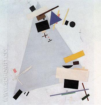 Dynamic Suprematism 1915 - Kasimir Malevich reproduction oil painting
