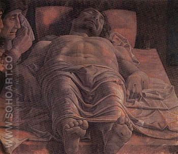 The Dead Christ c1465 - Andrea Mantegna reproduction oil painting