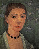Self Portrait with Blue Irises c1906 - Paula Modersohn-Becker