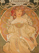 F Champenois France 1898 - Alphonse Mucha reproduction oil painting