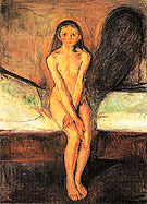 Puberty 1894 - Edvard Munch