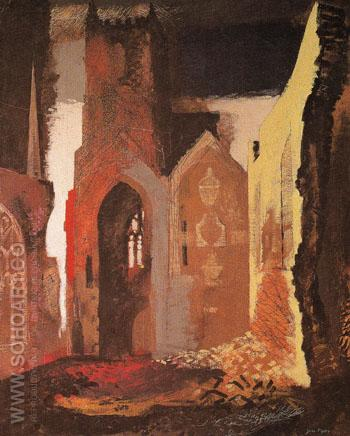 St Mary Port Bristol 1940 - John Piper reproduction oil painting