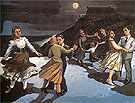 The Dance 1988 - Paula Rego reproduction oil painting