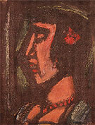 Bust of a Woman Wearing a Necklace 1930 - George Rouault reproduction oil painting