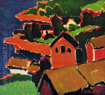 Lofthus 1911 - Karl Schmidt-Rottluff reproduction oil painting
