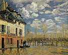 The Bark During the Flood at Port Marly 1876 - Alfred Sisley reproduction oil painting