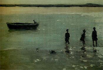 Beach at Etaples 1887 - Philip Wilson Steer reproduction oil painting