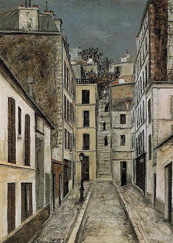 Limpasse Cottin c1910 - Maurice Utrillo reproduction oil painting