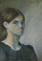 Self Portrait 1883 - Suzanne Valadon reproduction oil painting