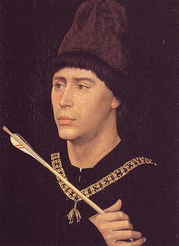 Portrait of Antoine de Bourgogne c1460 - Rogier van der Weyden reproduction oil painting