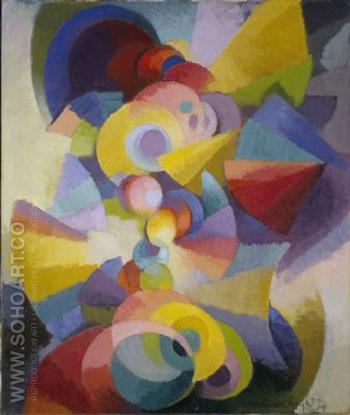 Conception Synchromy, 1914 - Stanton MacDonald Wright reproduction oil painting