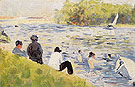 Bathers 1883 - Georges Seurat reproduction oil painting