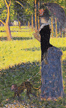 Woman with a Monkey 1884 - Georges Seurat reproduction oil painting