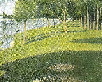 The Island of La Grande Jatte 1884 - Georges Seurat reproduction oil painting