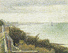 The English Channel at Grandecamp 1885 - Georges Seurat reproduction oil painting