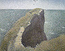 Le Bec du Hoc 1885 - Georges Seurat reproduction oil painting