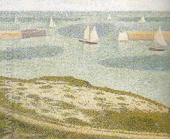 Port en Bessin Entrance to the Harbour 1888 - Georges Seurat reproduction oil painting
