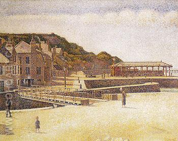 Port en Bessin 1888 - Georges Seurat reproduction oil painting