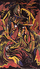 Composition with Woman c1938 - Jackson Pollock