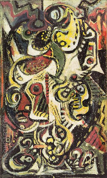 Masqued Image c1938 - Jackson Pollock reproduction oil painting