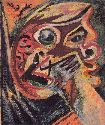 Orange Head c1938 - Jackson Pollock reproduction oil painting