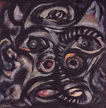 Head c1938 - Jackson Pollock reproduction oil painting