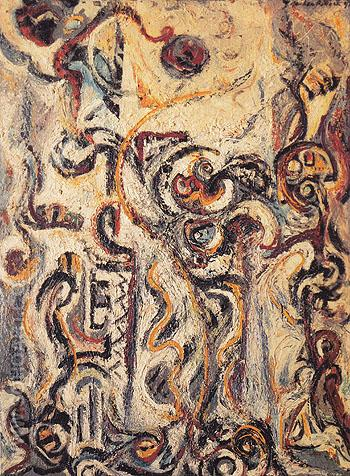 The Mad Moon Woman 1941 - Jackson Pollock reproduction oil painting