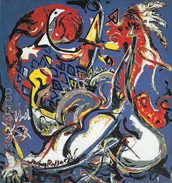 The Moon Woman Cuts the Circle c1943 - Jackson Pollock reproduction oil painting