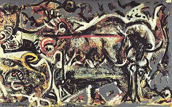 The She Wolf 1943 - Jackson Pollock reproduction oil painting