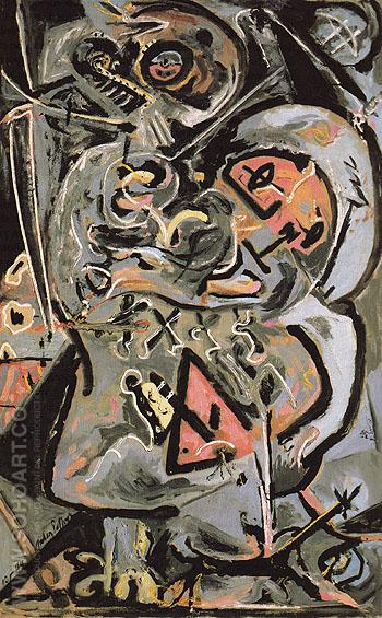 Totem Lesson I 1944 - Jackson Pollock reproduction oil painting