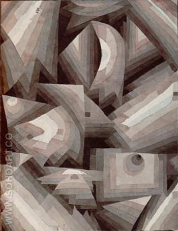 Crystal Gradation 1921 - Paul Klee reproduction oil painting