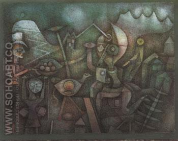 Carnival in the Mountains 1924 - Paul Klee reproduction oil painting