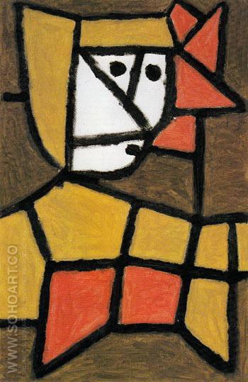 Woman in Peasant Dress 1940 - Paul Klee reproduction oil painting