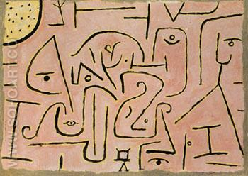 Contemplating 1938 - Paul Klee reproduction oil painting