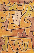 Red Waistcoat 1938 - Paul Klee reproduction oil painting
