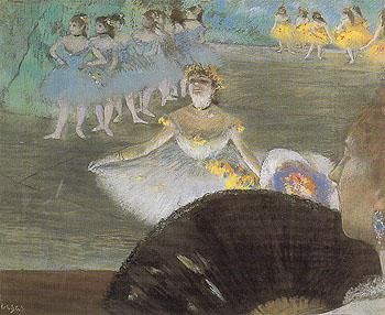 Dancer with Bouquet c1877 - Edgar Degas reproduction oil painting
