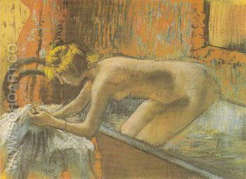 Woman Leaving the Bath 1886 - Edgar Degas reproduction oil painting
