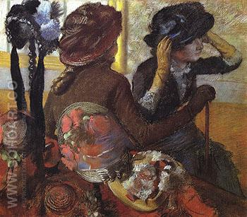 At the Milliners 1882 - Edgar Degas reproduction oil painting