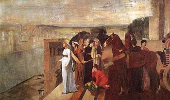 Semiramis Building Babylon c1860 - Edgar Degas reproduction oil painting